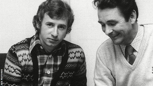 John McGovern and Brian Clough