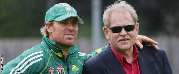 Shane Warne and Terry Jenner
