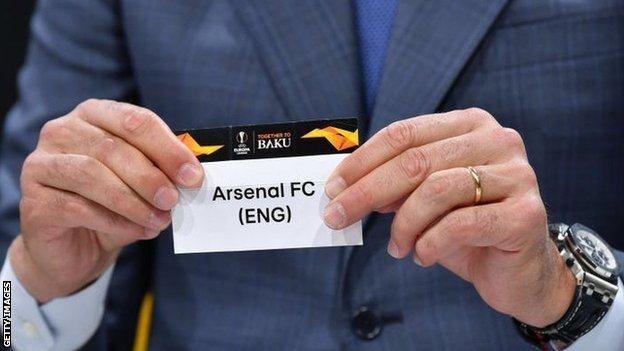 Arsenal are drawn first during the Europa League draw