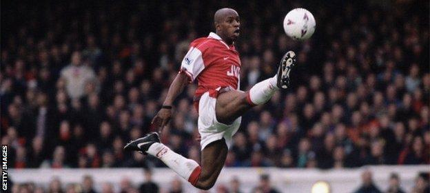 Ian Wright played under Wenger for two seasons