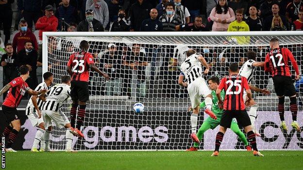 Ante Rebic scores against Juventus