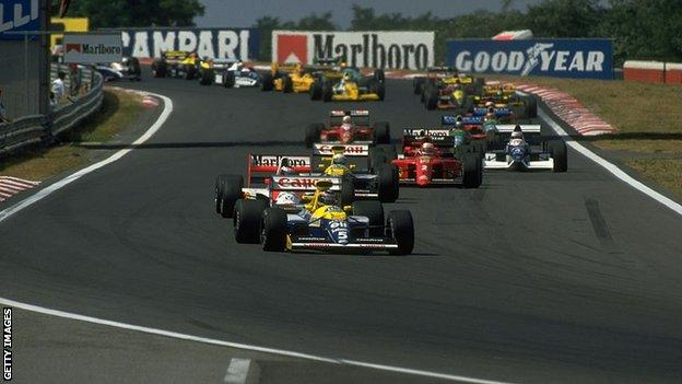 Thierry Boutsen claims victory at Hungary in 1990