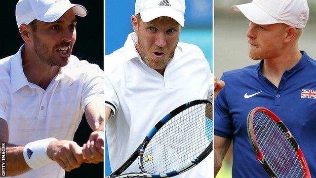 Colin Fleming, Dominic Inglot and Kyle Edmund