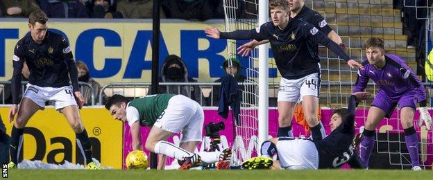 John McGinn goes down under Luke Leahy's challenge