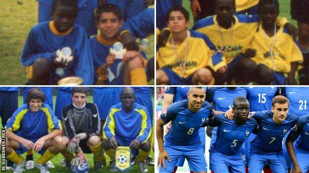 N'Golo Kante at JS Suresnes and lining up for France