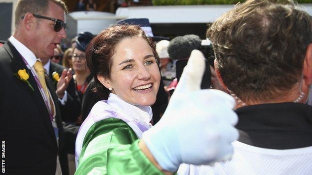 Michelle Payne after her Melbourne Cup win