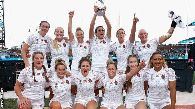England won the Challenge final against Japan at the 2018 Rugby World Cup Sevens in San Francisco this month