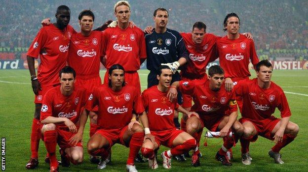 Liverpool's starting XI against AC Milan