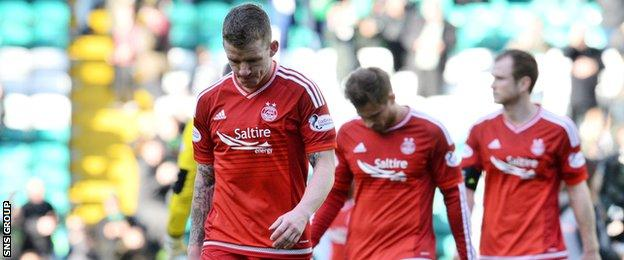 Aberdeen have picked up just one point from their last five league games