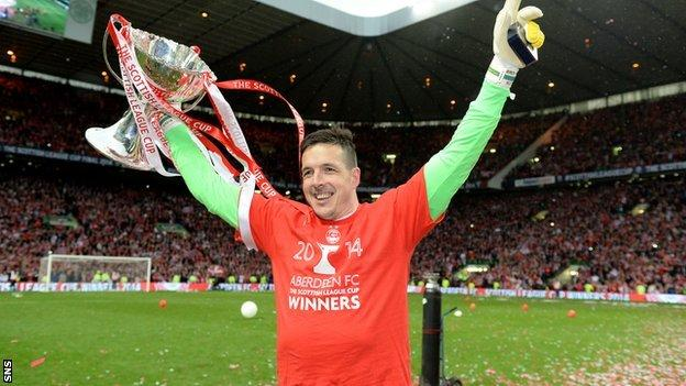 Jamie Langfield was in goal for the 2014 League Cup final