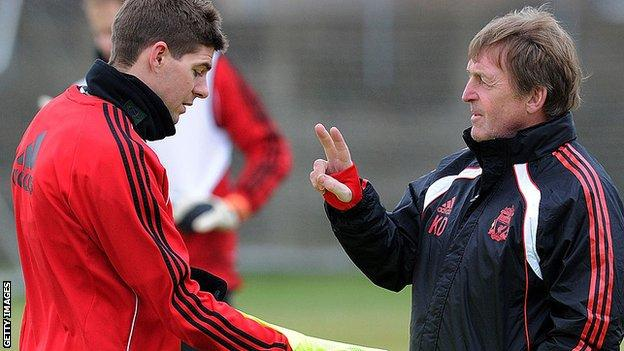 Steven Gerrard was a player under Kenny Dalglish during the Scot's second spell in charge of Liverpool