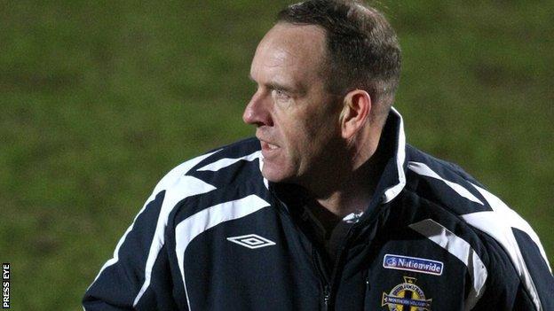 Kenny Shiels watched Glentoran's draw with Coleraine