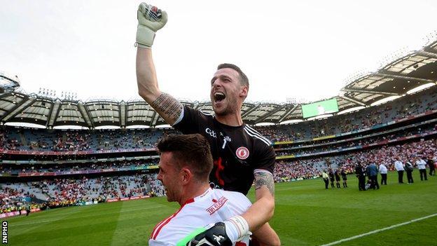 Niall Morgan celebrates