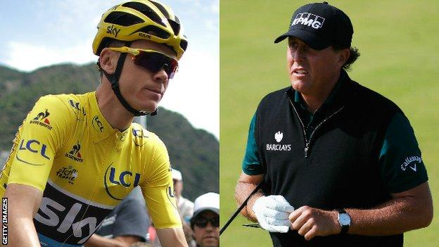 Chris Froome and Phil Mickleson