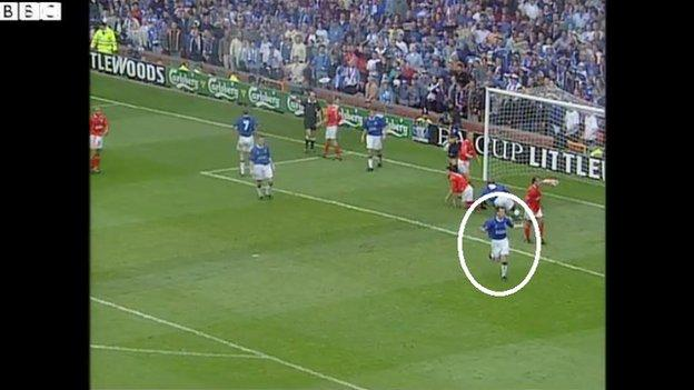 Jamie Hewitt appeals for a goal