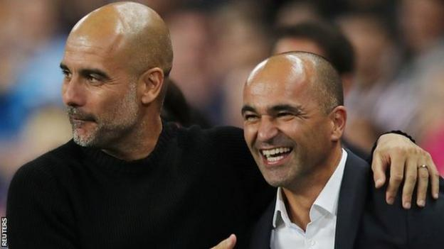 City boss Pep Guardiola took charge of the hosts while Belgium manager Roberto Martinez led the Premier League all-stars