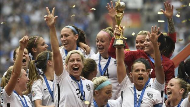 Carli Lloyd scored an incredible 13-minute hat-trick as the United States thrashed Japan 5-2 to win their third Women's World Cup title in 2015