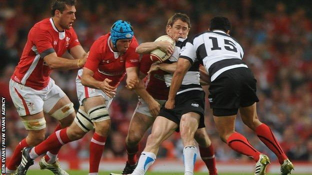 Wales last played the Barbarians in 2012, beating a side containing Welsh wing great Shane Williams