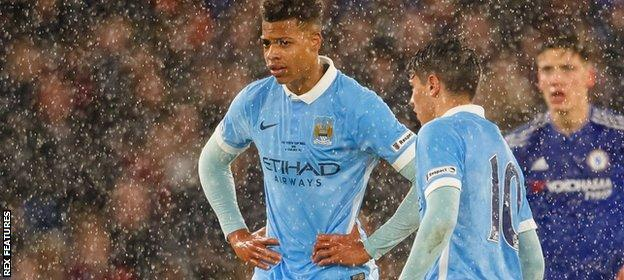 Two of Manchester City's academy stand deflated in the final of the 2016 FA Youth Cup