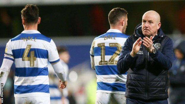 QPR players and boss Mark Warburton