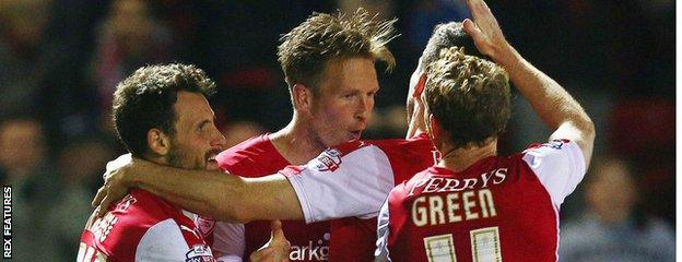 Danny Collins equalises for Rotherham