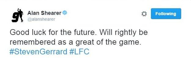 Alan Shearer tweet