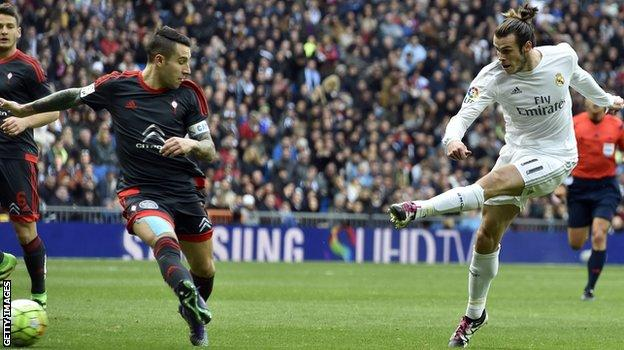 Gareth Bale celebration