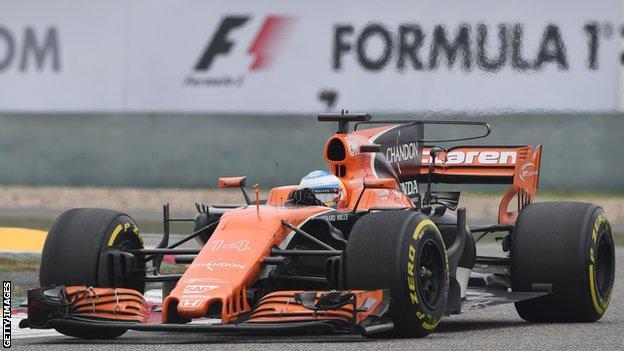 Fernando Alonso driving for McLaren