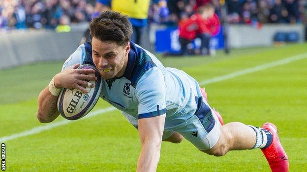 Sean Maitland scored two tries in the win over France in this season's Six Nations