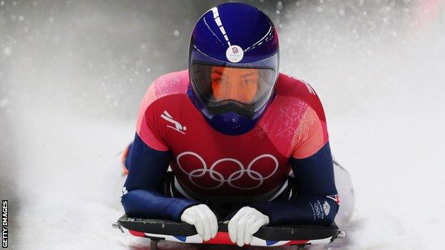 Laura Deas in action in the 2018 Winter Olympics