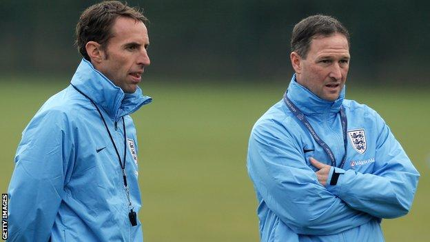 Gareth Southgate and Steve Holland