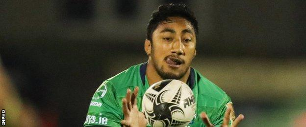 Connacht's Bundee Aki was named Pro12 player of the season for 2015/16