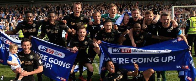 Wigan celebrate promotion