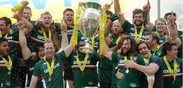 Leicester Tigers have not won the league title since 2013