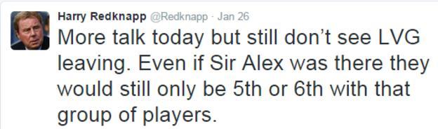Harry Redknapp tweet