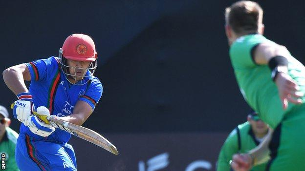 Hazratullah Zazai's innings helped Afghanistan produce an overall T20 record stand of 236