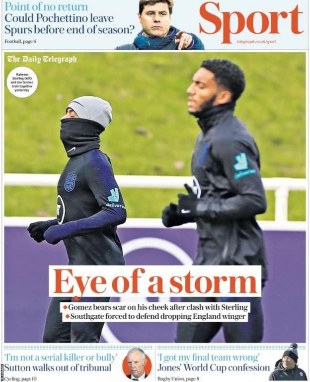 Telegraph main sport page