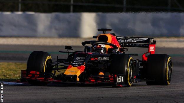 Max Verstappen in testing