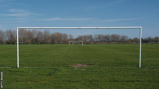 Pitch at Hackney marshes