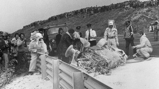 Roger Williamson's crash