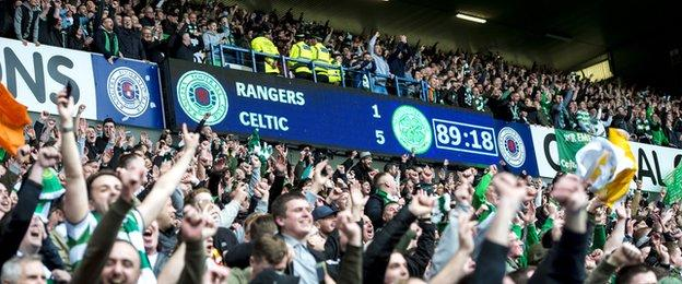 The result marks Celtic's biggest ever win over Rangers at Ibrox