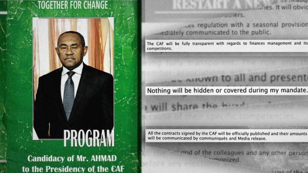 The 2017 manifesto of Caf President Ahmad