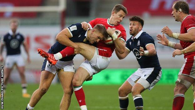Liam Williams played his 64th international for Wales in the recent 14-10 defeat against Scotland
