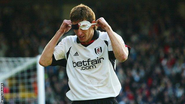 Fulham striker Facundo Sava would celebrate each goal by pulling out a black Zorro mask