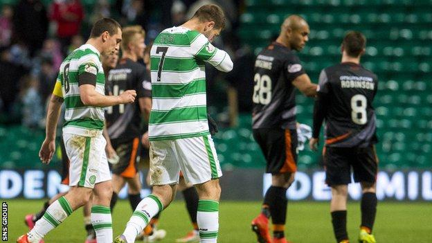 Celtic dropped points for the second time at home this season