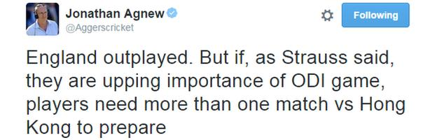 Jonathan Agnew tweet