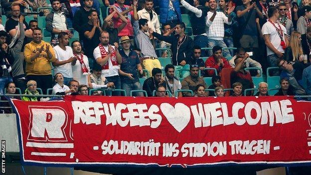 Refugee banner