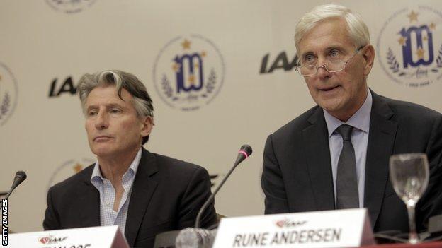 Sebastian Coe and Rune Andersen