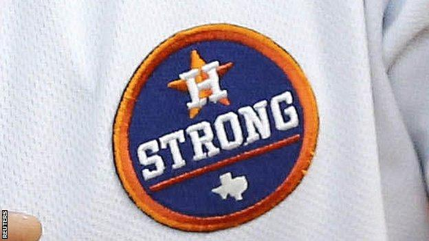 "A ""Houston Strong"" patch"