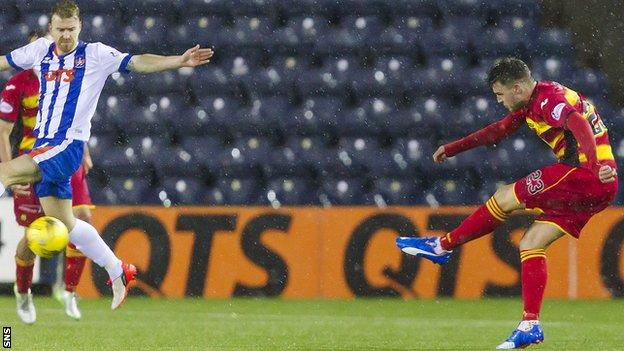 Robbie Muirhead scores for Partick Thistle